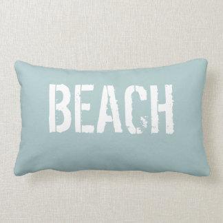 BEACH Sun Kissed Soft Aqua Lumbar Pillow
