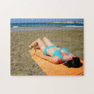 Beach Sunbather Jigsaw Puzzle