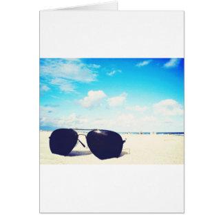 Beach Sunglasses Greeting Card