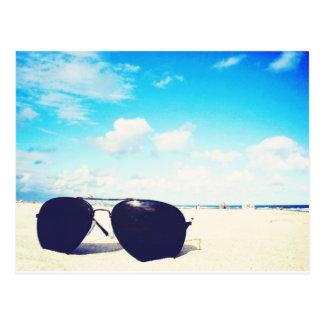 Beach Sunglasses Postcards