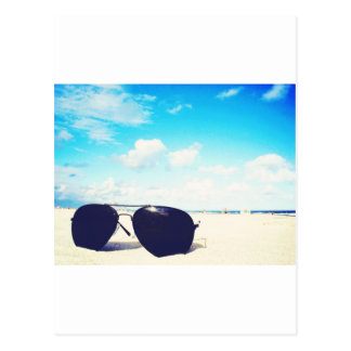 Beach Sunglasses Postcard