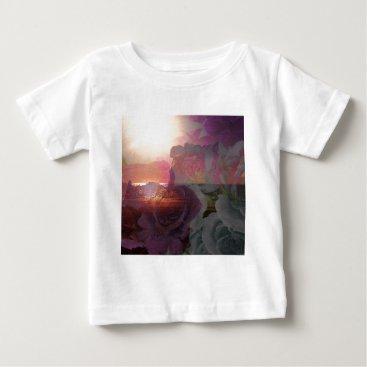 Beach Themed Beach sunlight and roses baby T-Shirt