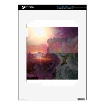 Beach Themed Beach sunlight and roses decal for the iPad 2