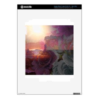 Beach sunlight and roses iPad 3 skin