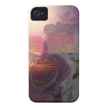 Beach Themed Beach sunlight and roses iPhone 4 case