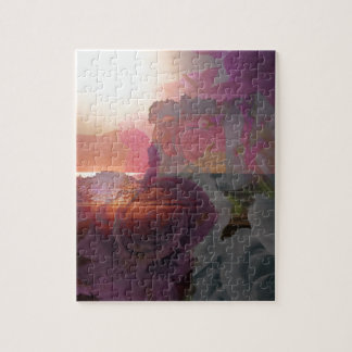 Beach sunlight and roses jigsaw puzzle