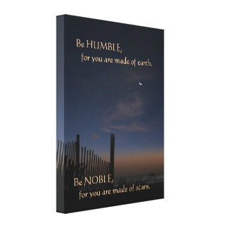 "Beach Sunrise ""Be Noble"" Motivational Canvas Print"
