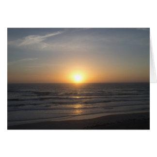 Beach Sunrise Card