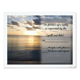 beach sunrise ii rsvp card