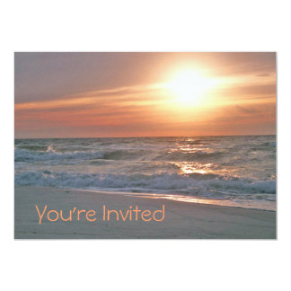 "Beach Sunrise Invitation 5"" X 7"" Invitation Card"