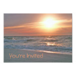 """Beach Sunrise Invitation (with two images) 5"""" X 7"""" Invitation Card"""