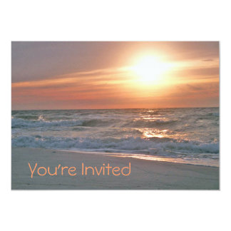 Beach Sunrise Invitation (with two images)