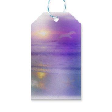 Beach Themed Beach Sunrise Lavender Peach seagull ocean tags