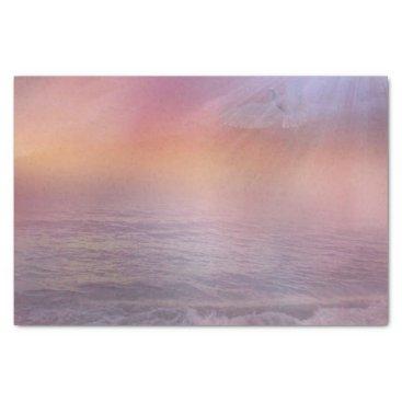 Beach Themed Beach Sunrise pillow Lavender Peach dove ocean Tissue Paper