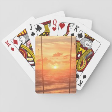 Beach Sunrise Playing Cards