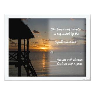 beach sunrise rsvp card