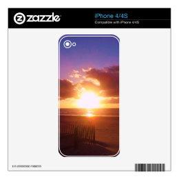 Beach sunrise skin for the iPhone 4