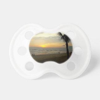 Beach Sunrise with Palm Tree Pacifier