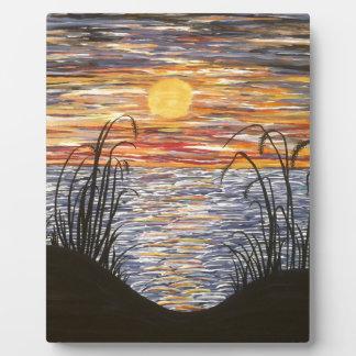Beach Sunset- Acrylic Painting Photo Plaques