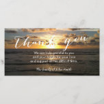 """Beach Sunset After Funeral Memorial Thank You<br><div class=""""desc"""">Beach Sunset After Funeral Memorial Thank You Cards.</div>"""