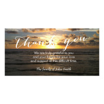 Beach Sunset After Funeral Memorial Thank You Card