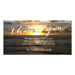 Beach Sunset After Funeral Memorial Thank You Photo Card