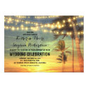 beach sunset and string lights wedding invitation (<em>$2.16</em>)