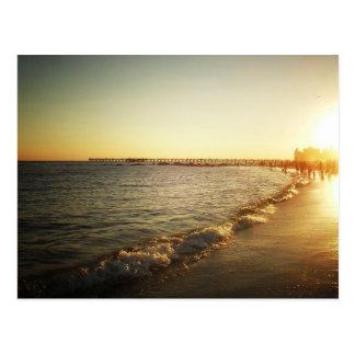 Beach Sunset at Coney Island, Brooklyn Postcard