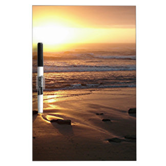 """Beach Sunset at Yachats, Oregon"" by Lewis Evans Dry-Erase Board"