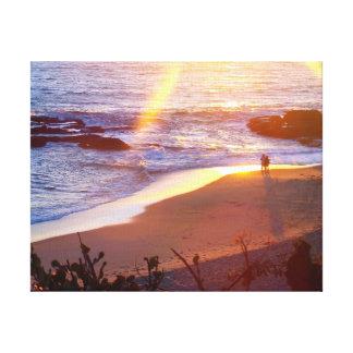 Beach Sunset Canvas Wrap Gallery Wrap Canvas