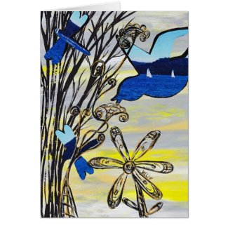 Beach Sunset Card card