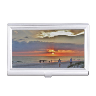 Beach Sunset Case For Business Cards