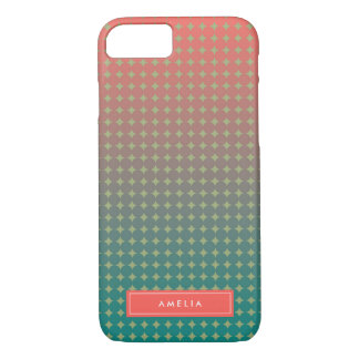 Beach Sunset Color Blend Abstract Name Monogram iPhone 7 Case