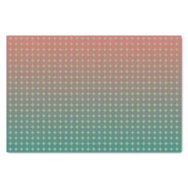 Beach Themed Beach Sunset Coral and Teal Ombre Pattern Tissue Paper