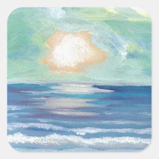 Beach Sunset - CricketDiane Ocean Art Square Sticker