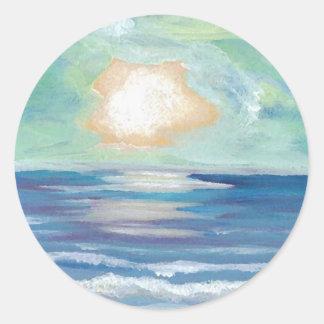 Beach Sunset - CricketDiane Ocean Art Classic Round Sticker