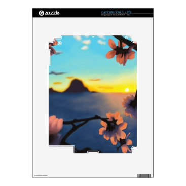 Beach Themed Beach Sunset Decals For iPad 2
