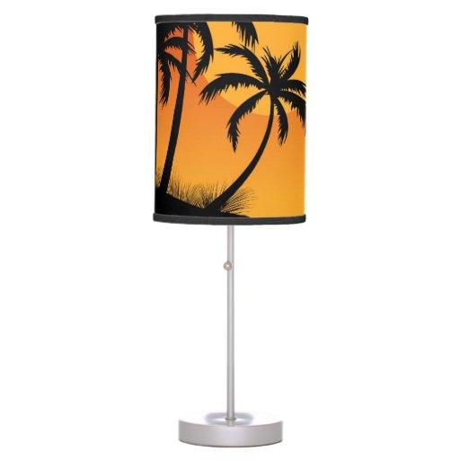 Beach Sunset Fun Table Lamp Zazzle