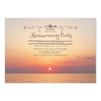 Beach Sunset Housewarming Party Card
