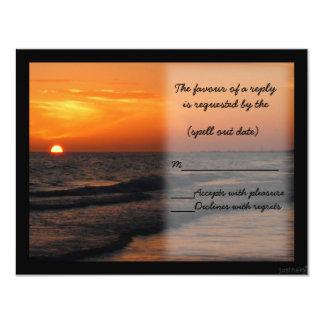 beach sunset ii rsvp card