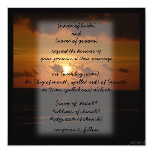 beach sunset iii Invitation