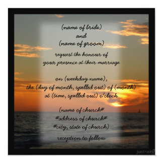 beach sunset Invitation