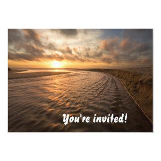Beach Sunset Invitation Montara Beach, Pacifica CA
