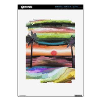 Beach Sunset iPad 3 Decals