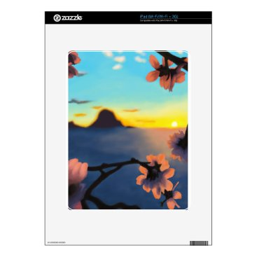 Beach Themed Beach Sunset iPad Skin