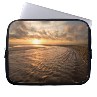 Beach Sunset Laptop Bag Montara Beach, Pacifica CA Computer Sleeves