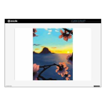 Beach Themed Beach Sunset Laptop Decal