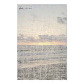Beach Sunset Linen Stationery