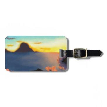 Beach Themed Beach Sunset Luggage Tag