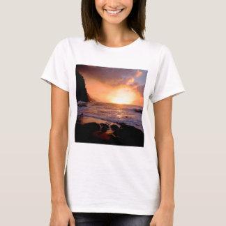 Beach Sunset Na Pali Coast Hawaii T-Shirt
